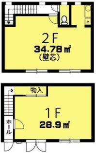 スクエア21東松山市松葉町【貸事務所】間取り図