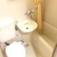 グリーンコーポ若葉2階【1K】浴室、洗面、トイレ