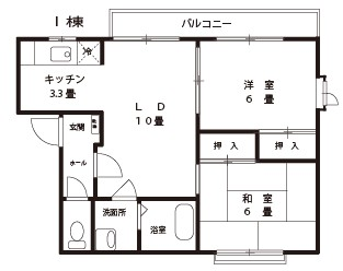 シルキーウインド【2LDK】間取図