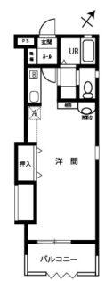 グランドヒルズB【1LDK】間取図
