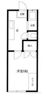 ハイツ寺尾【1K】間取図