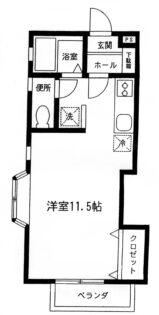 フレシール【1DK】間取図