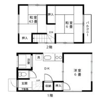南古谷貸家【3DK】間取図
